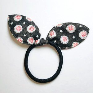 New! Paul Frank Monkey & Stars Bow Hair Tie